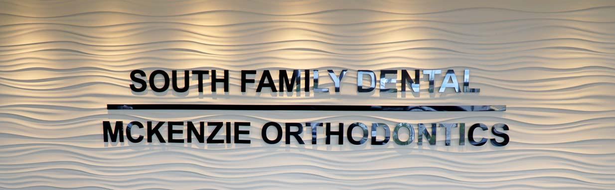 South Family Dental Sign | South Calgary Dentist | Dr. Angela Sharma